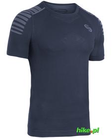 męska koszulka Brubeck Fitness Impulse granatowa