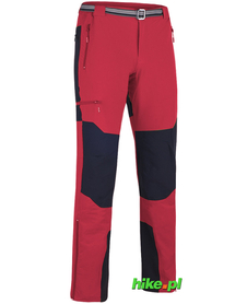 męskie spodnie trekkingowe Milo Brenta czerwone
