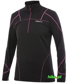 damska bluza Craft Thermal Stretcfh Pullover czarno-różowa