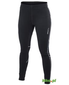 ocieplane damskie spodnie do biegania Craft Flex Tights czarne
