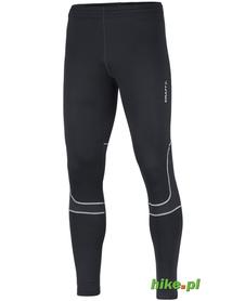 ocieplane męskie spodnie do biegania Craft Flex Tights czarne
