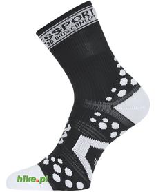 skarpety rowerowe Compressport ProRacing Socks Bike czarno-białe