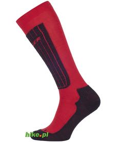 skarpety narciarskie Seger Ski Competition 7 czerwono-czarne