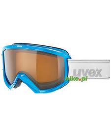 gogle narciarskie Uvex Fire Polavision niebieskie