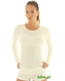 damska koszulka wełniana Brubeck Comfort Wool kremowa
