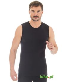 męski wełniany bezrękawnik Brubeck Comfort Wool czarny