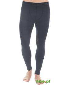 męskie wełniane kalesony termoaktywne Brubeck Comfort Wool czarne