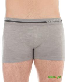 męskie wełniane bokserki Brubeck Comfort Wool szare