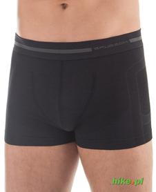 męskie wełniane bokserki Brubeck Comfort Wool czarne