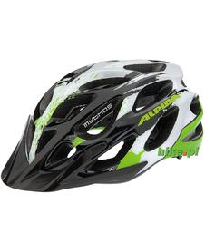 kask rowerowy Alpina Mythos 2.0 czarno-biało-zielony