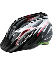 juniorski kask rowerowy Alpina FB Junior 2.0 czarno-biało-czerwony