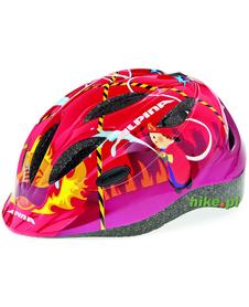 dziecięcy kask rowerowy Alpina Gamma 2.0 red firefighter