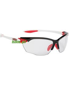 okulary sportowe Alpina Twist Four VL+ czarno-czerwono-białe
