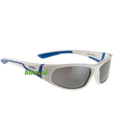juniorskie okulary sportowe Alpina Flexxy Junior biało-niebieskie