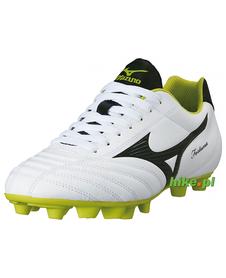 buty piłkarskie Mizuno Fortuna 4 MD biało-limonkowe