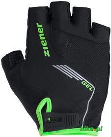 rękawiczki rowerowe Ziener Cavel czarno-limonkowe