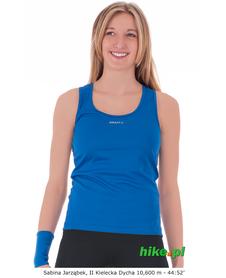 damska koszulka  Craft Active Run Singlet ciemno niebieska