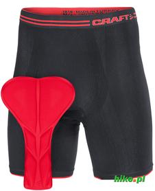 męskie bokserki z rowerową wkładką Craft Seamless Bike Shorts czarne