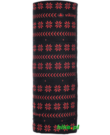 chusta Viking Regular czarno-czerwona