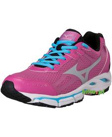 damskie buty do biegania Mizuno Wave Resolute różowo-srebrne