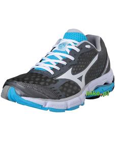 damskie buty do biegania Mizuno Wave Connect szaro-błękitne