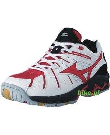 buty Mizuno Wave Storm 2 biało-czerwone