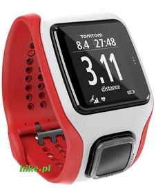 zegarek sportowy TomTom Multi-Sport Cardio GPS biało-czerwony