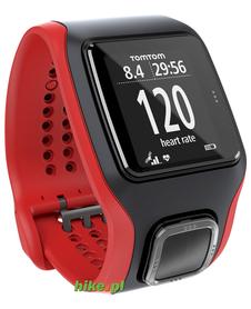 zegarek sportowy TomTom Multi-Sport Cardio GPS czarno-czerwony