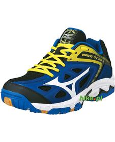 buty Mizuno Wave Storm 3 niebiesko-żółte
