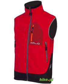 damska kamizelka Milo Poovi Lady Vest czerwono-czarna