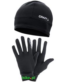 czapka i rękawiczki do biegania Craft Running Winter Gift Pack
