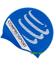 czepek do pływania Compressport Swim Cap niebieski