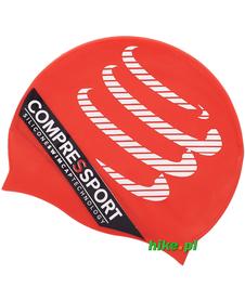 czepek do pływania Compressport Swim Cap czerwony