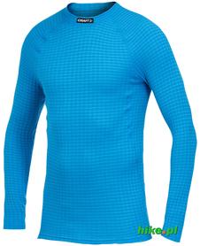 męska koszulka termoaktywna Craft Warm Wool Crew Neck niebieska