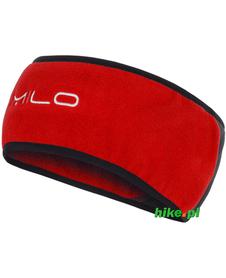 zimowa opaska Milo Headband czerwono-szara