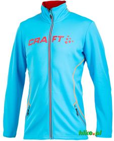 męska bluza Craft Logo Full Zip Jacket jasnoniebieska