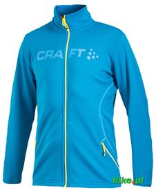 męska bluza Craft Logo Full Zip Jacket niebieska