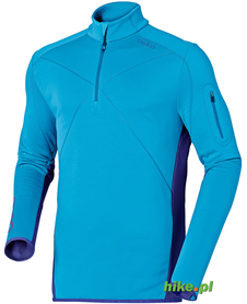 męska bluza Odlo Midlayer 1/2 Zip Sunday River niebieska
