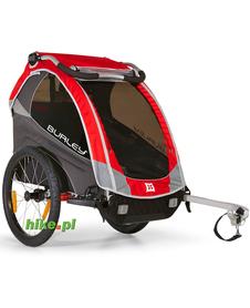 rowerowa przyczepka dla dziecka Burley Solo czerwona