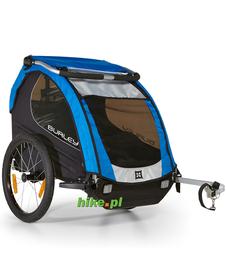 rowerowa przyczepka dla dziecka Burley Encore niebieska