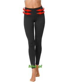 damskie legginsy gWinner Shape & Slim Leggins Climaline czarne