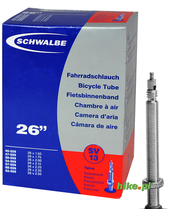 dętka rowerowa Schwalbe Standart 26 cali 40-62 mm wentyl Presta
