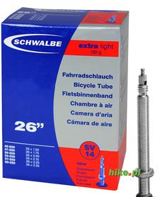 dętka rowerowa Schwalbe Extra Light 26 cali 40-60mm wentyl Presta