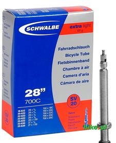 dętka rowerowa Schwalbe Extra Light 28 cali 18-25mm wentyl Presta