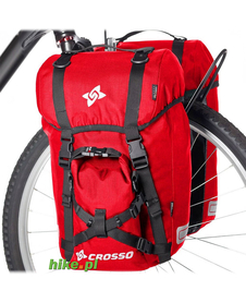 sakwy rowerowe Crosso Expert Small 40 L czerwone