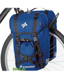 sakwy rowerowe Crosso Expert Small 40 L niebieskie