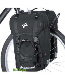 sakwy rowerowe Crosso Expert Small 40 L czarne