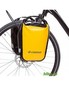 sakwy rowerowe Crosso Dry Small 30 L żółte
