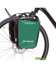 sakwy rowerowe Crosso Dry Small 30 L zielone