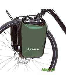 sakwy rowerowe Crosso Dry Small 30 L oliwkowe